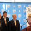 CLAY BENNETT HONORED....Mayor Mick Cornett, Clay Bennett and Gov. Brad Henry were at the Oklahoma History Center for a celebration honoring Bennett for being named %u201COklahoma Today%u201D magazine%u2019s %u201C2008 Oklahoman of the Year.%u201D (Photo by Helen Ford Wallace).