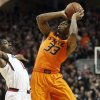 It will be tough for Marcus Smart watching the next three games from the sidelines, says Berry Tramel. (AP Photo/Lubbock Avalanche-Journal, Tori Eichberger)