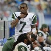 Photo - New York Jets quarterback Geno Smith (7) walks on the sideline in the fourth quarter of an NFL football game against the Tennessee Titans on Sunday, Sept. 29, 2013, in Nashville, Tenn. The Titans won 38-13. (AP Photo/Mark Zaleski)