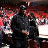 Wayman Tisdale leaves the court after the Sooner\'s 73-72 victory as the University of Oklahoma (OU) men\'s college basketball team plays Southern California (USC) at the Lloyd Noble Center in Norman, Oklahoma on Thursday, December 4, 2008. By Steve Sisney, The Oklahoman ORG XMIT: KOD