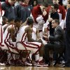 Oklahoma Sooner head coach Lon Kruger talks to his team during a time out as the University of Oklahoma Sooners (OU) men play the Baylor University Bears (BU) in NCAA, college basketball at The Lloyd Noble Center on Saturday, Feb. 23, 2013 in Norman, Okla. Photo by Steve Sisney, The Oklahoman