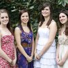 Left to Right, Tori McCune, Lizzie Lockard, Lindsey Henderson & Sarah Cox in Nichols Hills, Oklahoma , Wednesday, May 25, 2011. Photo by Steve Gooch