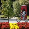 A student bikes across the Van Fleet Oval on the University of Oklahoma campus in Norman Monday, October 29, 2007. By Jim Beckel, The Oklahoman.