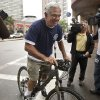 Former Boston Red Sox Manager Bobby Valentine sets out for a bike ride on Boston\'s Huntington Ave., Thursday, Oct. 4, 2012. Valentine was fired Thursday, the day after the Red Sox ended the season with a record of 69-93, the ball club\'s worst record in almost 50 years. (AP Photo/The Boston Globe, Matthew J. Lee) MANDATORY CREDIT. NO ONLINE USE. MAGS OUT. NO SALES. BOSTON OUT. QUINCY OUT.