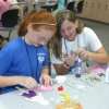 Maleah Hodge and Casey Paltillo work together to create activities in Babysitter Boot Camp at Francis Tuttle\'s SummerQuest. Community Photo By: Jeff Knapp Submitted By: Jeff, Oklahoma City