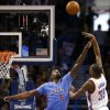 Oklahoma City \'s Kevin Durant (35) shoots over Los Angeles\' DeAndre Jordan (6) during the NBA game between the Oklahoma City Thunder and the Los Angeles Clippers at the Chesapeake Energy Arena, Sunday, Feb. 23, 2014. Photo by Sarah Phipps, The Oklahoman