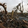 Splinter trees in the yard of Tom Chronister\'s home after being destroyed north of El Reno, Tuesday, May 24, 2011. Photo by Chris Landsberger, The Oklahoman ORG XMIT: KOD