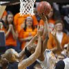 Oklahoma State\'s Stevie Clark (5) is fouled by Delaware State\'s Tyshawn Bell (5) during an NCAA college basketball between Oklahoma State University and Delaware State at Gallagher-Iba Arena in Stillwater, Okla., Tuesday, December 17, 2013. Photo by Bryan Terry, The Oklahoman