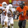 Oklahoma State\'s Joseph Randle (1) runs for a touchdown during a college football game between Oklahoma State University (OSU) and the University of Texas (UT) at Boone Pickens Stadium in Stillwater, Okla., Saturday, Sept. 29, 2012. Photo by Bryan Terry, The Oklahoman
