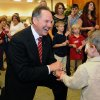 Roy Moore, candidate for Alabama Supreme Court chief justice, greets Adam DuPre\', 3, of Pike Road, Ala., at his election party in Montgomery, Ala., on election night Tuesday, Nov. 6, 2012. (AP Photo/David Bundy)