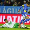 Iraq\'s Salam Shaker, below, come into contact with Brazil\'s Neymar, in action during the international friendly soccer match at Swedbank Stadium in Malmo, Sweden, Thursday Oct. 11, 2012. (AP photo / Scanpix Sweden / Bjorn Lindgren) SWEDEN OUT