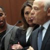 Photo - Former NFL safety Darren Sharper, left, and attorney Blair Berk, center, listen as attorney Leonard Levine addresses the court in Los Angeles Superior Court on Thursday, Feb. 20, 2014, in Los Angeles. Sharper has pleaded not guilty to charges that he drugged and raped two women he met at a West Hollywood night club. (AP Photo/Los Angeles Times, Bob Chamberlin, Pool)