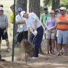 Photo - Ernie Els, of South Africa, hits out of the pine needles on the third hole during a practice round for the U.S. Open golf tournament in Pinehurst, N.C., Wednesday, June 11, 2014. The tournament starts Thursday. (AP Photo/Eric Gay)