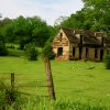 A picture taken on Danforth Rd. east of I-35 of an abandoned farmhouse. It was color-boosted with Apple iPhoto. No other alterations. Community Photo By: Megan Gessouroun Submitted By: Megan, Edmond
