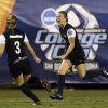 Penn State\'s Christine Nairn, right, celebrates with Emily Hurd after scoring the winning goal in overtime against Florida State in an NCAA women\'s college soccer tournament semifinal, Friday, Nov. 30, 2012, in San Diego. (AP Photo/Gregory Bull)
