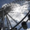 Photo - SkyView, a 200-foot tall Ferris wheel,  gives riders a bird's-eye view of Atlanta, Tuesday, July 16, 2013, in Atlanta. The giant ferris wheel opened to the public Tuesday. (AP Photo/Jaime Henry-White)