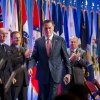 Republican presidential candidate, former Massachusetts Gov. Mitt Romney leaves after speaking to members of the National Guard Association Convention in Reno, Nev., Tuesday, Sept. 11, 2012. (AP Photo/Scott Sady)