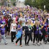 Walkers begin the 2012 Oklahoma City Walk to End Alzheimer\'s at Bricktown Ballpark in Oklahoma City, OK, Saturday, September 15, 2012, By Paul Hellstern, The Oklahoman