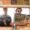"Photo -                    From left, Chris Wiser and Rob Martin, of Sugar Free Allstars, celebrate the completion of the band's new Record Store Day 7-inch vinyl release of ""My Daddy's Record Collection,"" at Guestroom Records in Oklahoma City.                     Photo provided by Chris Nguyen"