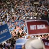 Delegates wave the signs during the Democratic National Convention in Charlotte, N.C., on Tuesday, Sept. 4, 2012. (AP Photo/Jae C. Hong) ORG XMIT: DNC794