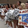 Cheerleaders greet the Oklahoma Thunder before the Oklahoma City Thunder\'s Blue and White scrimmage at Westmoore High School in Moore, Okla., Sunday, Oct. 13, 2013. Photo by Sarah Phipps, The Oklahoman