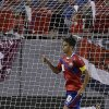 Photo - Costa Rica forward Bryan Ruiz celebrates after scoring against Japan during the first half of a friendly soccer match Monday, June 2, 2014, in Tampa, Fla. (AP Photo/Chris O'Meara)
