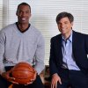 In this photo provided by ABC, NBA basketball veteran Jason Collins, left, poses for a photo with television journalist George Stephanopoulos, Monday, April 29, 2013, in Los Angeles. In a first-person article posted Monday on Sports Illustrated\'s website, Collins became the first active player in one of four major U.S. professional sports leagues to come out as gay. He participated in an exclusive interview with Stephanopoulos, which is scheduled to air on Good Morning America on Tuesday. (AP Photo/ABC, Eric McCandless)