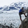This 2007 photo released by Extreme Ice Survey shows James Balog installing a