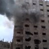 This image made from amateur video and released by Bambuser Saturday, April 14, 2012 purports to show smoke from shelling in Homs, Syria. (AP Photo/Bambuser via AP video) THE ASSOCIATED PRESS CANNOT INDEPENDENTLY VERIFY THE CONTENT, DATE, LOCATION OR AUTHENTICITY OF THIS MATERIAL. TV OUT- MANDATORY CREDIT: