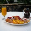 Cherry stuffed French toast is a highlight of breakfast at the White Gull Inn in Door County. - Amy Raymond, The Oklahoman