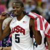 United States\' Kevin Durant celebrates after the men\'s gold medal basketball game against Spain at the 2012 Summer Olympics, Sunday, Aug. 12, 2012, in London. USA won 107-100. (AP Photo/Charles Krupa)