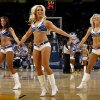 The Thunder Girls perform during the NBA basketball game between the Denver Nuggets and the Oklahoma City Thunder in the first round of the NBA playoffs at the Oklahoma City Arena, Wednesday, April 27, 2011. Photo by Bryan Terry, The Oklahoman