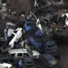 This photo provided by KFOR-TV shows a car pile-up outside Moore, Okla., Monday, May 20, 2013. A monstrous tornado as much as a mile wide roared through the Oklahoma City suburbs Monday, flattening entire neighborhoods, setting buildings on fire and landing a direct blow on an elementary school. (AP Photo/KFOR-TV) ORG XMIT: CER107