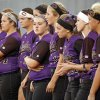 Chickasha waits for the runner-up medals after losing the 5A state championship fast-pitch softball game to Grove at ASA Hall of Fame Stadium in Oklahoma City, Monday, Oct. 15, 2012. Grove won, 3-2. Photo by Nate Billings, The Oklahoman