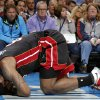 Miami\'s LeBron James (6) holds his head after an injury during an NBA basketball game between the Oklahoma City Thunder and the Miami Heat at Chesapeake Energy Arena in Oklahoma City, Thursday, Feb. 20, 2014. Oklahoma CIty lost 103-81. Photo by Bryan Terry, The Oklahoman