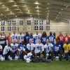 In this photo provided by the Indianapolis Colts, member of the Colts NFL team pose together in Indianapolis, Wednesday, Nov. 7, 2012. The Colts are going to great lengths to support their ailing coach Chuck Pagano. In a show of support, many players shaved their heads after Tuesday\'s practice. Pagano lost his hair while undergoing treatment for leukemia. (AP Photo/Indianapolis Colts)