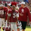 Oklahoma Sooners\'s Daniel Brooks (34) waits to play during the University of Oklahoma Sooners (OU) practice and Student Day at Gaylord Family-Oklahoma Memorial Stadium in Norman, Okla., on Thursday, Aug. 21, 2014. Photo by Steve Sisney, The Oklahoman