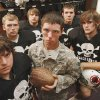 Jimmy Fenimore joined the Army National Guard after his junior year. The Rush Springs offensive lineman is in the best shape of his life in Rush Springs, Oklahoma on Thursday, October 11, 2007. Players clockwise from bottom left are Mitchell Henderson, Kory Krawtzow, Adam Ferguson, Zack Jordan and Lance Hill. BY STEVE SISNEY, THE OKLAHOMAN
