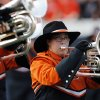 The OSU Cowboy Marching Band performs before the college football game between the University of Tulsa (TU) and Oklahoma State University (OSU) at Boone Pickens Stadium in Stillwater, Oklahoma, Saturday, September 18, 2010. Photo by Nate Billings, The Oklahoman