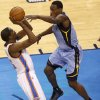 Oklahoma City\'s Kevin Durant (35) shoots over Memphis\' Tony Allen (9) during Game 5 in the first round of the NBA playoffs between the Oklahoma City Thunder and the Memphis Grizzlies at Chesapeake Energy Arena in Oklahoma City, Tuesday, April 29, 2014. Photo by Nate Billings, The Oklahoman