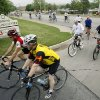 Riders finish their ride for the Central Oklahoma Bike to Work Day 2009 in Edmond, OK, Friday, May 1, 2009. BY PAUL HELLSTERN, THE OKLAHOMAN