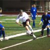 Tuesday, 3.27.07, Kenton Panas, junior, from Edmond Memorial HS weaves through Sapulpa defenders. EMHS won the game 2-1. Community Photo By: Jeff Wilson Submitted By: Jeff, Edmond