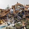 The remains of the house owned by Scott and M\'Lynn McCann that was destroyed by a tornado west of El Reno, Tuesday, May 24, 2011. Photo by Chris Landsberger, The Oklahoman ORG XMIT: KOD
