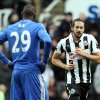 Photo - Newcastle United's Jonas Gutierrez, right, celebrates his goal as Chelsea's Demba Ba, left, stand's dejected during their English Premier League soccer match at St James' Park, Newcastle, England, Saturday, Feb. 2, 2013. (AP Photo/Scott Heppell)