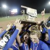 Bethel celebrates their Class 5A slow pitch softball championship over Bristow at the Hall of Fame Stadium, Tuesday May 11, 2009, in Oklahoma City. Photo by Sarah Phipps, The Oklahoman