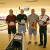 First place winners of this year's Gutter Dance V charity bowling event benefiting the J. D. McCarty Center for children with developmental disabilities in Norman are (l-r) Bart Wharton, Tim Howard, Kent Vig and Payton Reddeck. Their team, Older and Slower, was one of 21 teams participating in this year's event. They won first place with a team average of 351 pins for two games. Community Photo By: Greg Gaston Submitted By: Greg, Norman