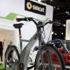 An electric-powered bicycle at minicar maker Smart\'s display is shown at the North American International Auto Show in Detroit, Wednesday, Jan. 16, 2013. Transportation of the two-wheeled variety is sharing the floor at the auto show in Detroit along with the latest cars, trucks and concept vehicles. Bikes weren\'t the focus of presentations during this week\'s press previews, but they\'re often used in marketing cars. (AP Photo/Paul Sancya)