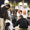 OSU\'s Dez Bryant sits on the field after an injury during the Holiday Bowl college football between Oklahoma State and Oregon at Qualcomm Stadium in San Diego, Tuesday, Dec. 30, 2008. PHOTO BY BRYAN TERRY, THE OKLAHOMAN. ORG XMIT: KOD