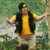 Toby Tobin plays a bird in Fairy\'s Misfortune by the Lucky Penny Players at the Edmond Library, Thursday, June 4, 2009. This is the 25th year for the Lucky Penny Players. Photo By David McDaniel, The Oklahoman.