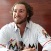 Photo - Miami Marlins catcher Jarrod Saltalamacchia talks to members of the media at the baseball team's Winter Warm-Up, Saturday, Feb. 15, 2014, in Miami. (AP Photo/El Nuevo Herald, David Santiago) MAGAZINES OUT